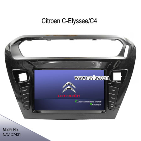 citroen elysee c4 stereo radio car dvd player tv gps navigation ipod nav c7431 car dvd player. Black Bedroom Furniture Sets. Home Design Ideas