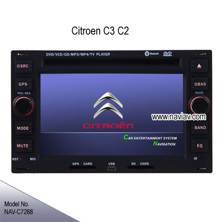 citroen c2 c3 oem stereo car dvd player gps navigation tv nav c7288 car dvd player gps. Black Bedroom Furniture Sets. Home Design Ideas