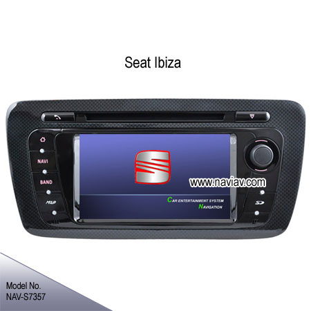 seat ibiza oem stereo car dvd player gps navigation tv ipod nav s7357 car dvd player gps. Black Bedroom Furniture Sets. Home Design Ideas