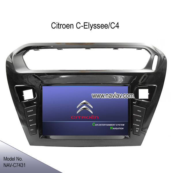 citroen elysee c4 stereo radio car dvd player tv gps navigation ipod nav c7431 car dvd player. Black Bedroom Furniture Sets. Home Design Ideas
