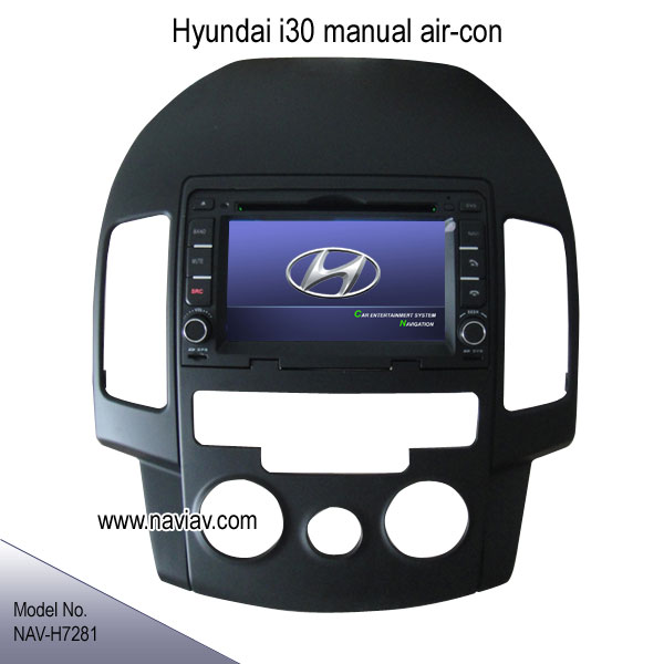 hyundai i30 in dash manual air condition radio rds gps dvd