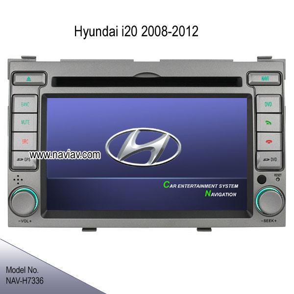 hyundai i20 2008 2012 oem radio dvd gps navigation ipod tv rearview camera nav h7336 car dvd. Black Bedroom Furniture Sets. Home Design Ideas