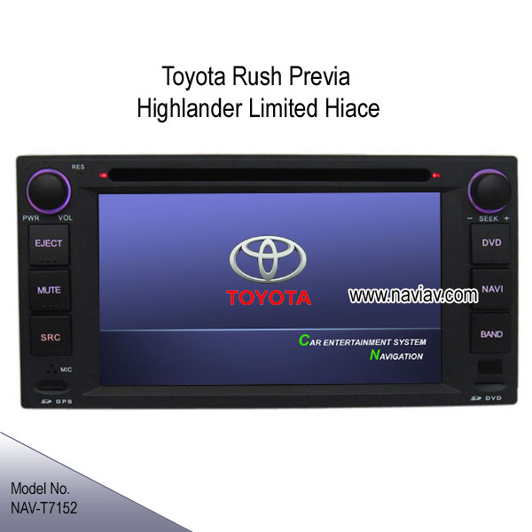 2012 Toyota Highlander Limited: Car In Dash DVD Navi TV For TOYOTA Rush Previa Camry IST