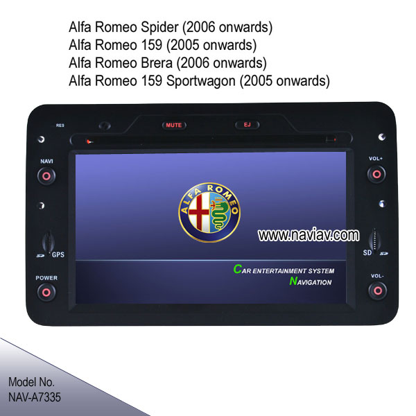 alfa romeo spider 159 brera oem stereo radio car dvd ipod gps rearview camera nav a7335 car dvd. Black Bedroom Furniture Sets. Home Design Ideas