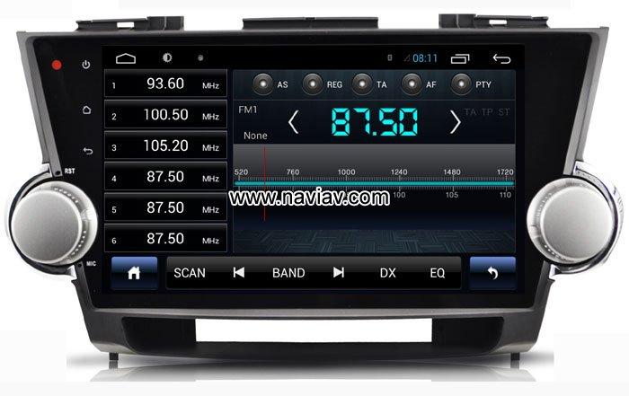 Android 4 4 Toyota Highlander Kluger Avalon Dvd Gps Wifi